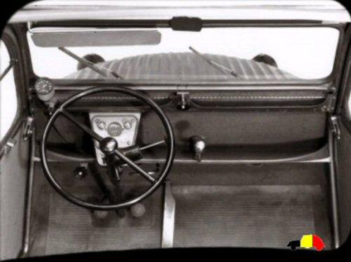 Evolution de la 2cv 1949 for Interieur 2cv